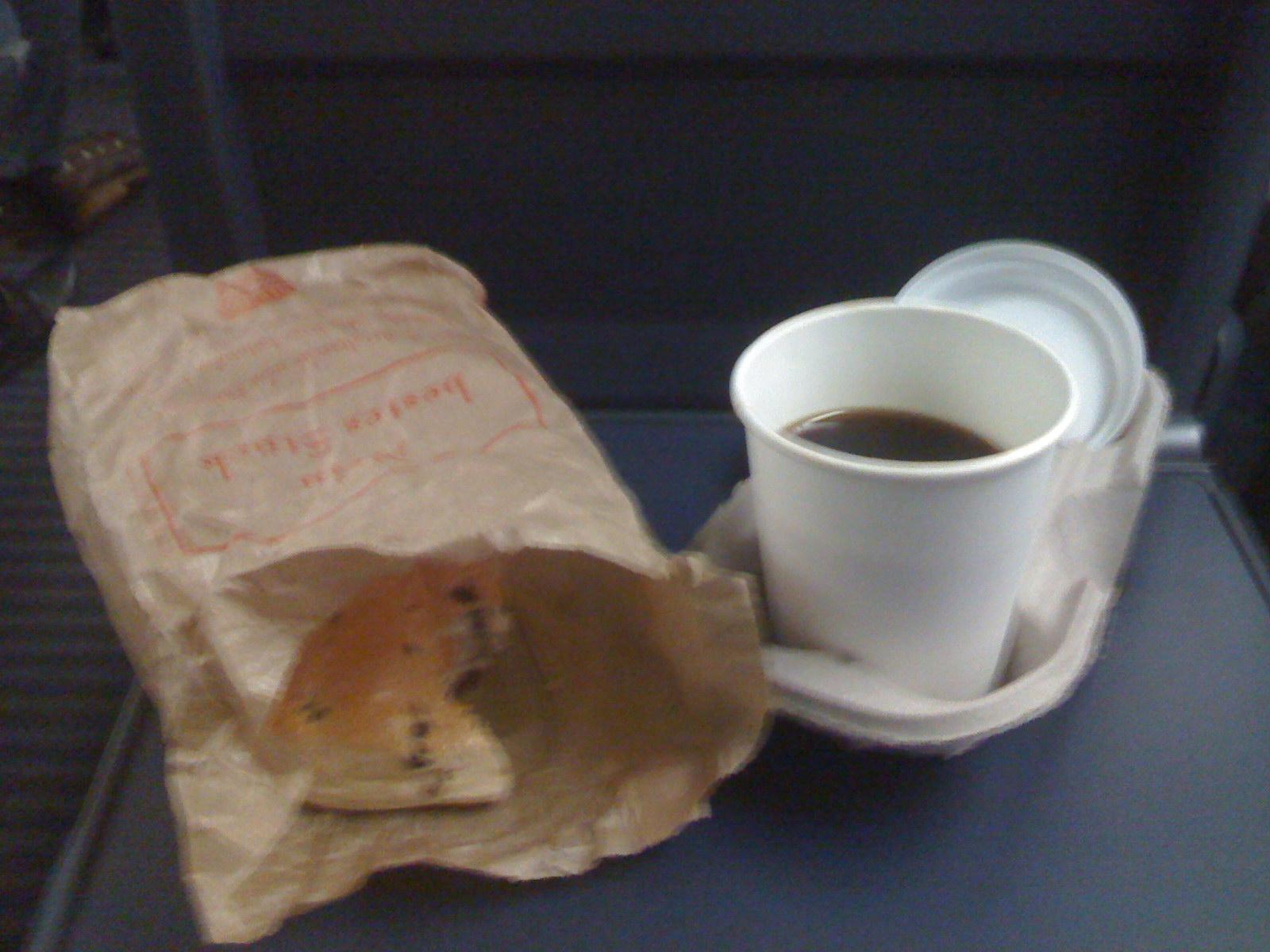 Frühstück im Zug...