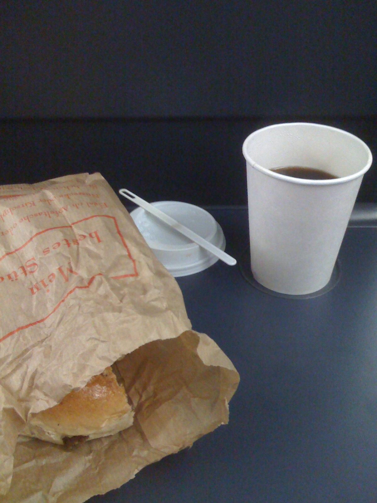 Frühstück bei der Bahn