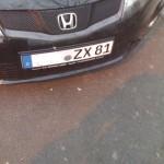 ZX81 Nummernschild