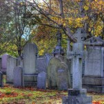 An autumn day in the graveyard
