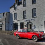 Red car in Stonehaven