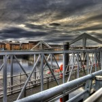 Squiggly Bridge and Broomielaw Quay Ferry Terminal